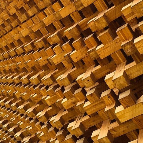 Japanese pavilion detail at Milan Expo 2015 by Hufton+Crow