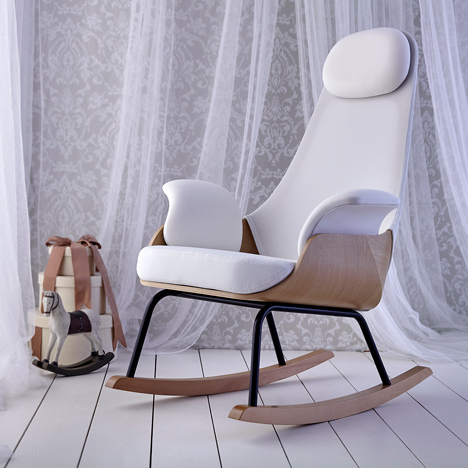 Alegre Design updates traditional breastfeeding chair with