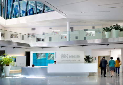 Pedrali Nestle headquarters promotion