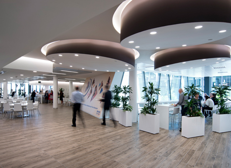 Restaurant area within the Nestlé headquarters