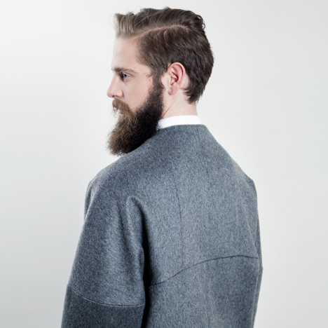 Jeffrey Heiligers tailors Posture garments to prevent hunched backs