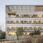 Palaeontology research centre by H Arquitectes is wrapped in computer-controlled shutters