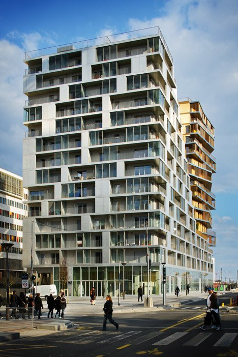 Tallest parisian housing block in 40 years completed Modern residential towers