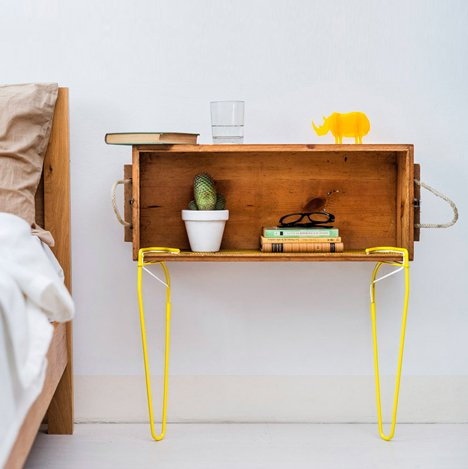 Snap clip-on supports create furniture from found objects