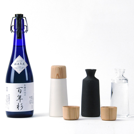 Kazuya Koike crafts simple sake cups from Japanese cedar