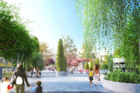 MVRDV and Studio Makkink &amp Bey to transform Seoul overpass into High Line-inspired park called Seoul Skygarden
