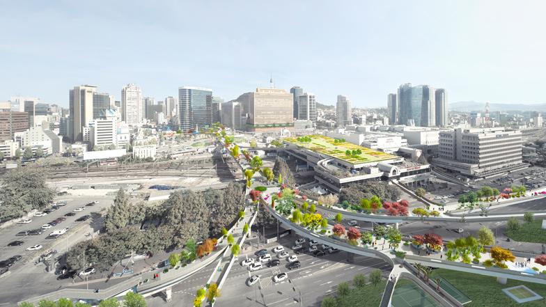 MVRDV to transform Seoul overpass into High Line-inspired park