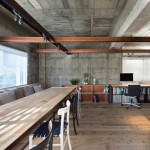 Suppose Design Office's Tokyo studio mixes concrete, steel and reclaimed wood