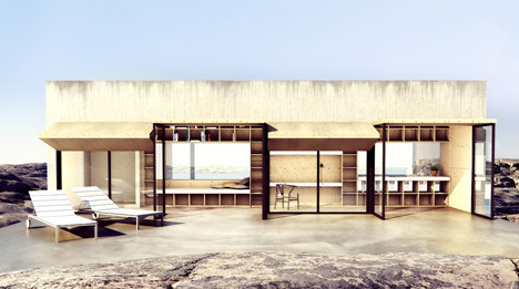 The Waterfall House by Bornstein Lyckefors Arkitekter
