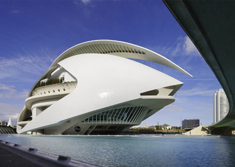 Tomorrowland features Santiago Calatrava's City of Arts and Sciences bridge