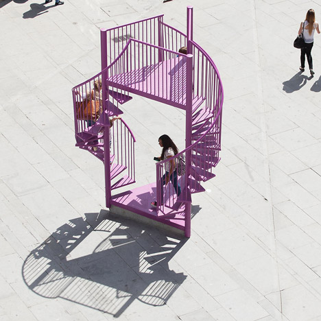 Tripod installation by LIKEarchitects is all stairs and balconies