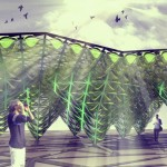 EcoLogicStudio transforms cladding system into a bioreactor with Urban Algae Canopy