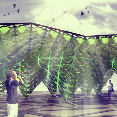 EcoLogicStudio transforms cladding system into a bioreactor with Urban Algae Canopy