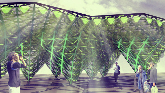 Visualisation of the Urban Algae Canopy by ecoLogicStudio