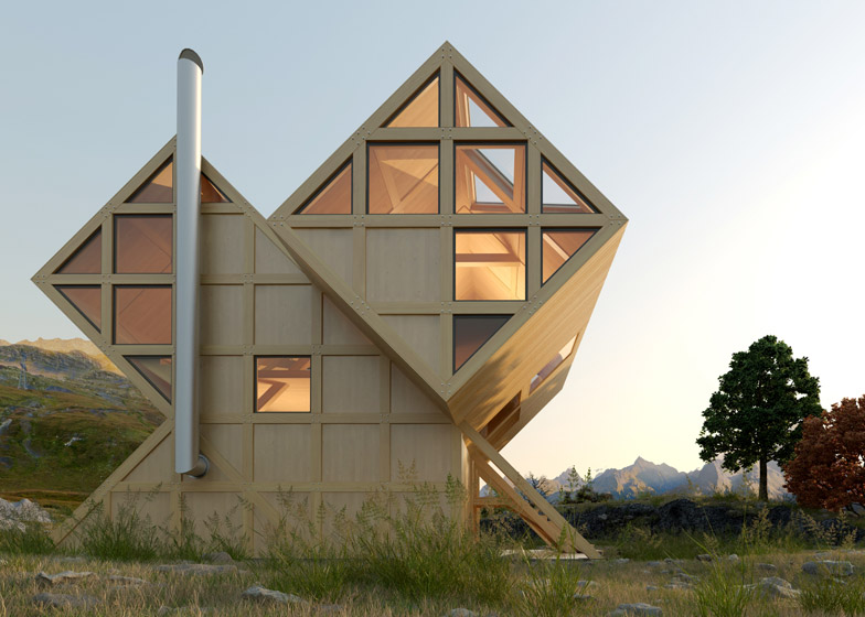 Plan bureau imagines a twin peaked wooden house