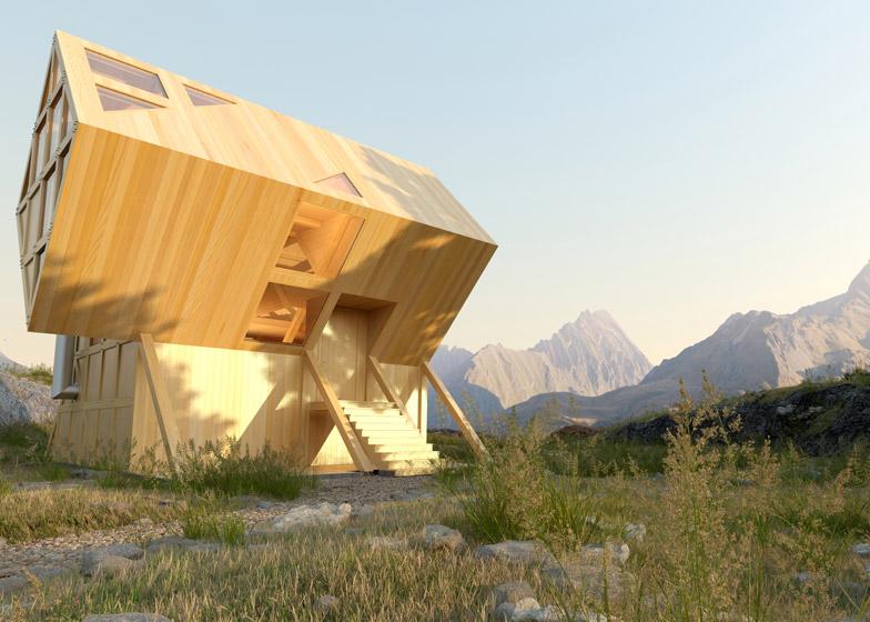 Plan bureau imagines a twin peaked wooden house