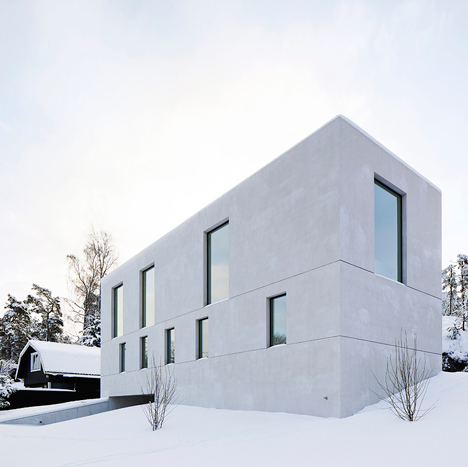 Fourfoursixsix uses aerated concrete for family residence on the Stockholm archipelago