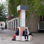 GRUPPE creates pastel-coloured totems to signpost Clerkenwell Design Week
