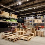 Schemata Architects builds Vitra's Salone stand from wooden pallets