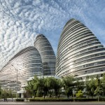 Zaha Hadid completes pebble-shaped Wangjing Soho towers in Beijing