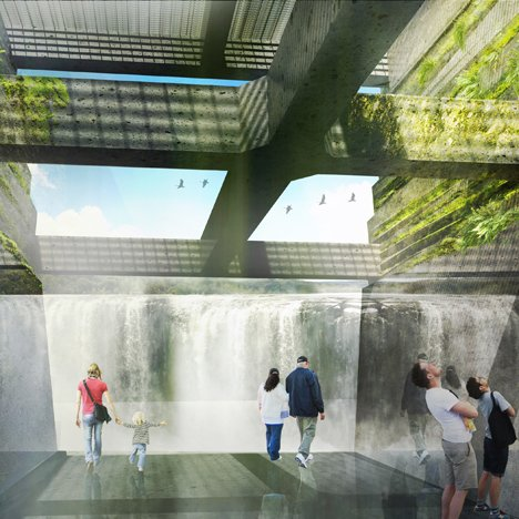 Snøhetta team to design river walk next to America's second largest waterfall