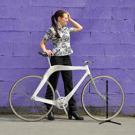 AERO designs wooden bicycle frame to explore techniques for architecture