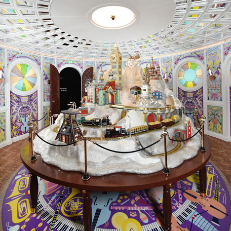 Studio Job installs giant crystal-encrusted model at Swarovski theme park