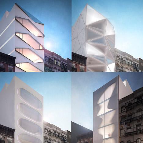 30 Thompson Street facades by Karim Rashid