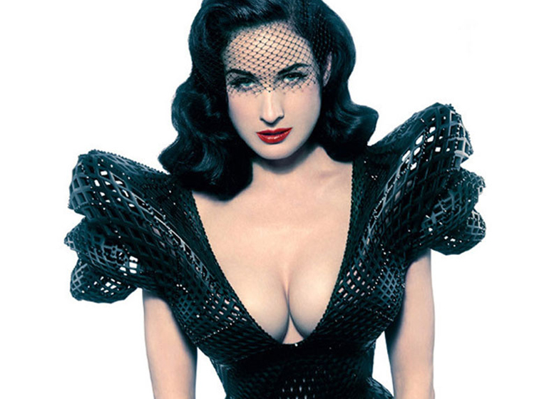 3D-printed dress for Dita von Teese by Francis Bitonti and Michael Schmidt