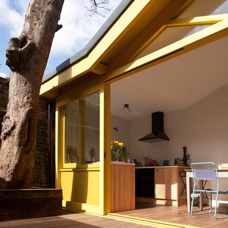 PriceGore adds a yellow-framed extension to an east-London artist's home