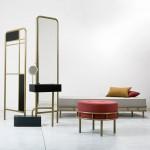 David Amar's Bialik furniture collection references Art Deco floor tiles in a Tel Aviv home