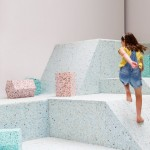 Assemble's Brutalist Playground is a climbable landscape of ice-cream-coloured shapes