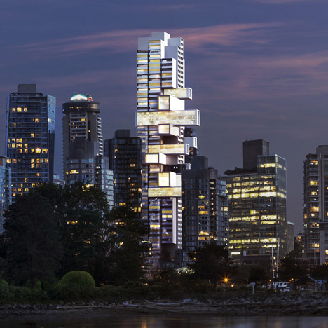 "Ole Scheeren's Vancouver skyscraper will offer a ""new typology for vertical living"""