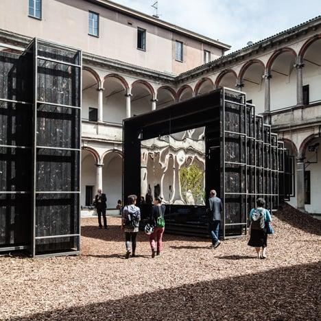 Annabel Karim Kassar's telescopic pavilions bring a taste of Lebanon to Milan