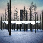 Cloud-shaped campsite designed to float among the trees of a Colorado valley
