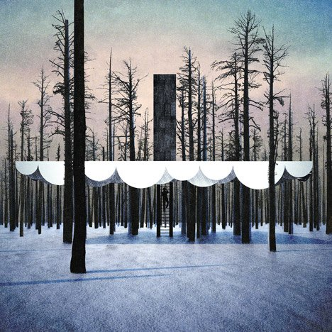 Cloud-shaped campsite designed to float among<br /> the trees of a Colorado valley