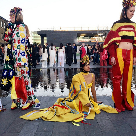 Central Saint Martins BA Fashion protest CSM encore