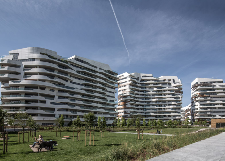 City Life Milano by Zaha Hadid and Libeskind