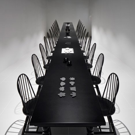 Nendo creates dining room optical illusion at Japan's Expo pavilion
