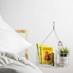 Dalt storage system hangs from the ceiling to save space in small apartments