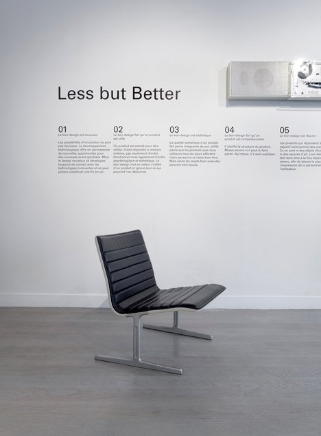 Dieter Rams Less but Better exhibition in Paris