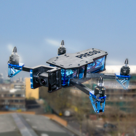 Superflux research project imagines London patrolled by a fleet of drones