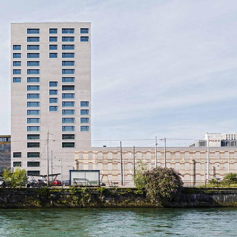 Zurich building by E2A incorporates the facade of a century-old warehouse