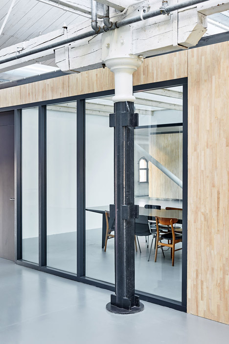 how to build an office in a warehouse