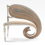 Sebastian Brajkovic exhibits warped furniture at Carpenters Workshop Gallery