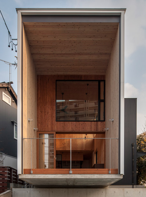 Fabulous Fly Out House By Tatsuyuki Takagi Balances Over A Concrete Wall Largest Home Design Picture Inspirations Pitcheantrous