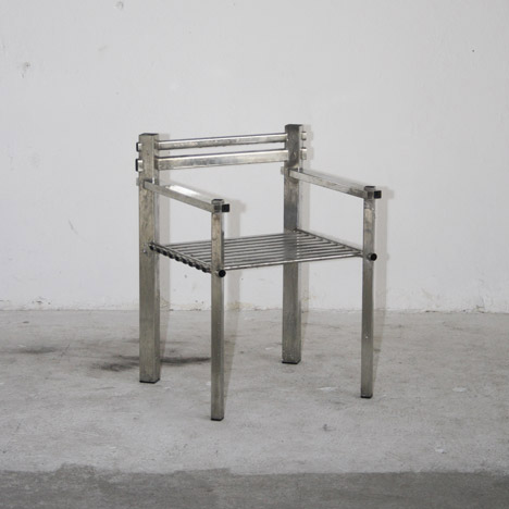 Metalware Armchair by Max Lamb