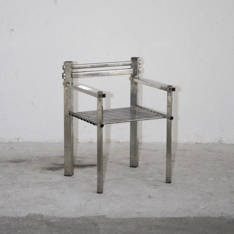 Metalware Armchair by Max Lamb