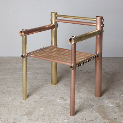 Gallery Fumi's Design Miami/Basel 2015 exhibition includes metal furniture by Max Lamb