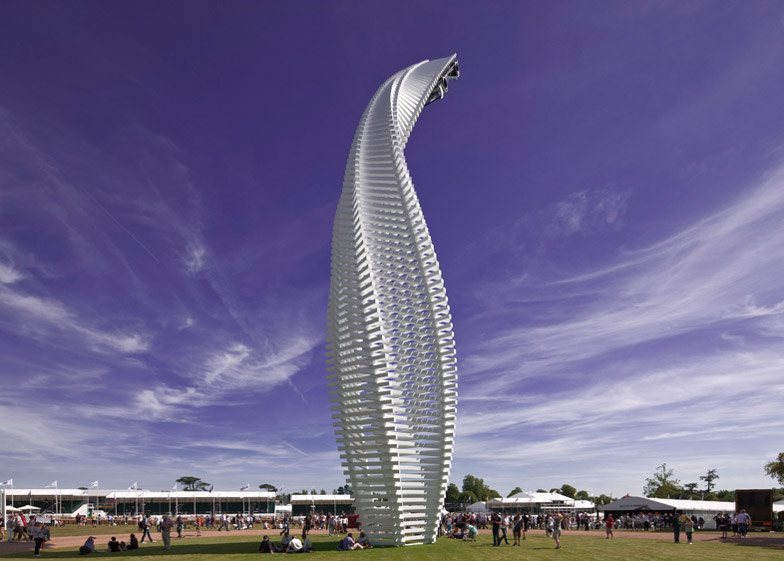 Goodwood 2015 sculpture by Gerry Judah for Mazda